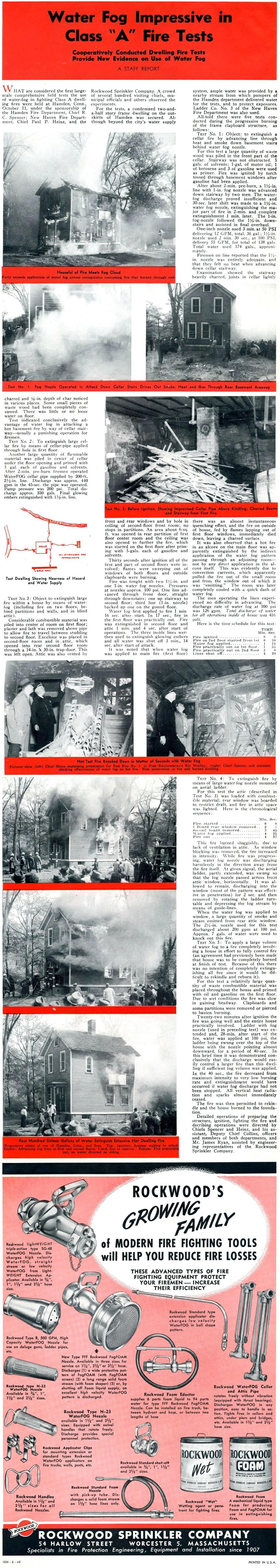 FIRE ENGINEERING REPRINT, June 1948 (Courtesy of Chan Brainard)